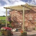 Traditional patio pergola.