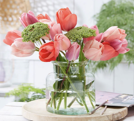 "Fabulous tulip combinations."" title="
