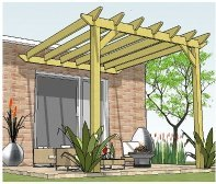 Copyright image: Attached pergola plans.