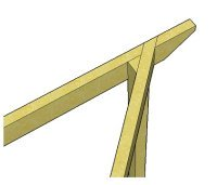 Copyright image: Notched rafter for the triangular pergola.