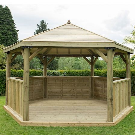 Large hexagonal gazebo kit.