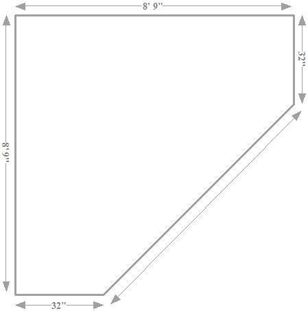 Copyright image: Corner pergola footprint taken from the corner pergola plans.