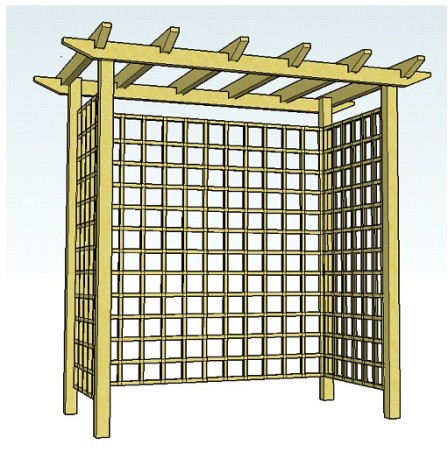 Copyright image: A pergola arch that can be made into a seated arbour.