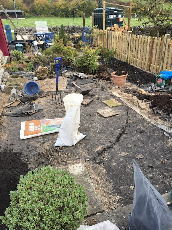 Copyright image: small garden design: clearing the site.