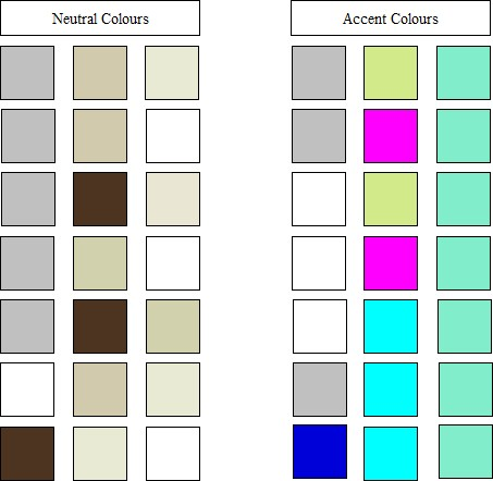 Copyright image: Neutral and accent colours.