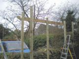 Copyright image: Corner pergola construction taken from the step-by-step pergola plans.