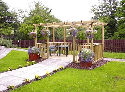 Wooden pergola kits for Garden decking kits uk