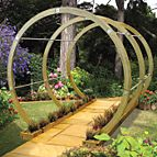 Flower walk pergola kit.