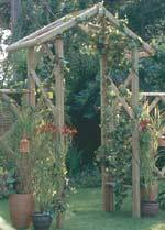 Rustic rose arch kit.