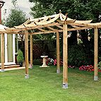 Extended Dragon pergola kit.