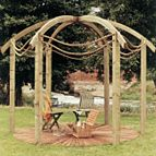 Jac flower domed pergola kit.