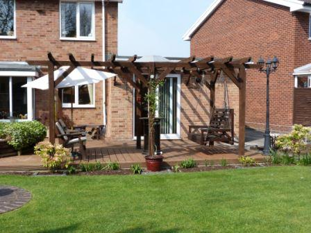 Copyright image: A fantastic attached lean-to pergola.