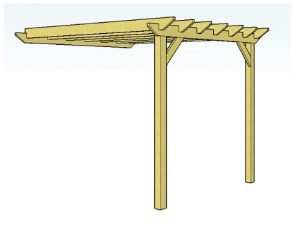 lean to pergola construction