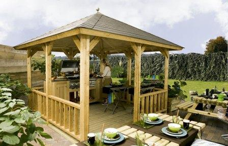 Garden gazebo ideal for outdoor living.