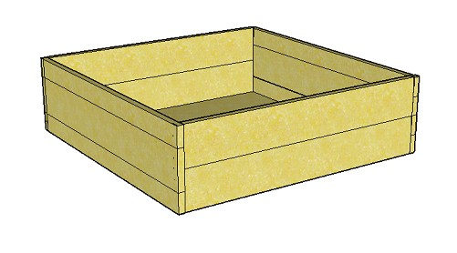 Copyright image: Raised bed plans - without fins.