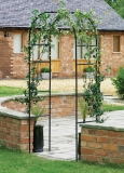 Botanico modular metal rose walk pergola or arch.