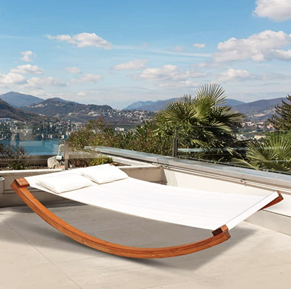 Double rocking lounger.