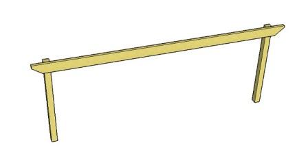 Copyright image:  Diagram showing a long pergola beam span.