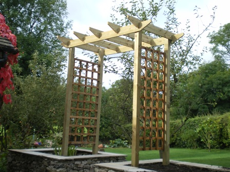 copyright image a pergola arch that can be made into a seated arbour arbor design - Arbor Design Ideas