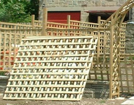 Copyright image: Trellis used to build pergolas and fencing.