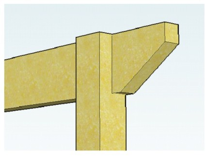 Copyright image:  Diagram showing notched post with rafter.