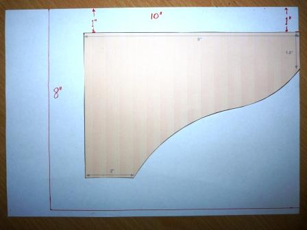 Copyright image: rafter tail template modifications Step 2.