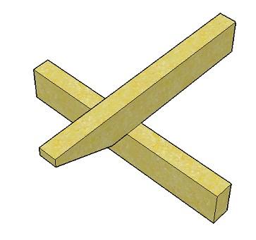 Copyright image: Pergola rafter design - unnotched.