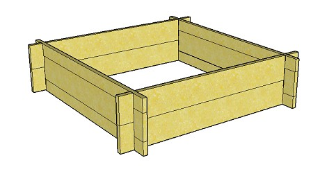 Copyright image: Raised bed plans - with fins.