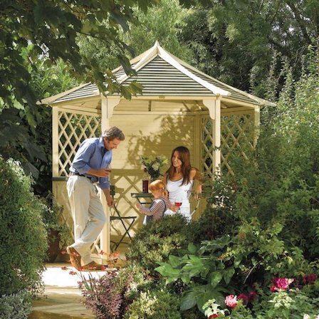 The beautiful Rowlinson 'Gainsborough' gazebo kit.