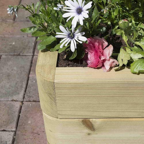 Beautifully crafted wooden raised beds.