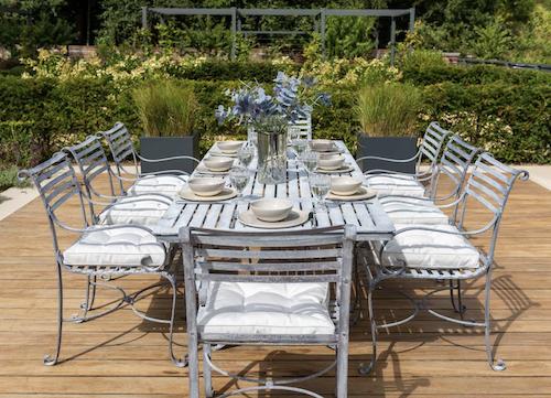 Southwold metal garden furniture and garden dining sets.