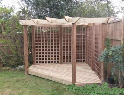 Chris's finished corner pergola