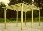 Traditional Warwick pergola kit.