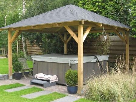 Hot tub gazebo.