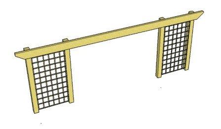 Copyright image: Long pergola beam span with trellis