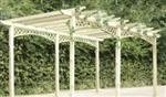 Traditional freestanding wooden pergola
