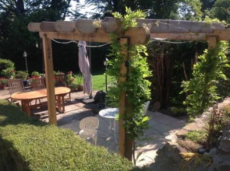 Copyright image: A fabulous patio pergola built by James