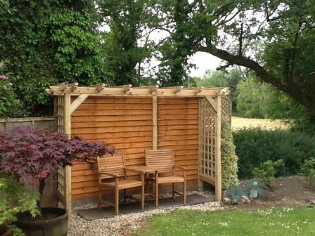 Copyright image: Kevin built this fantastic arbour with seat.